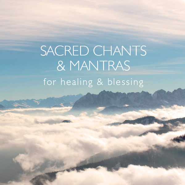 CD cover image: rolling clouds above a soothing mountain landscape